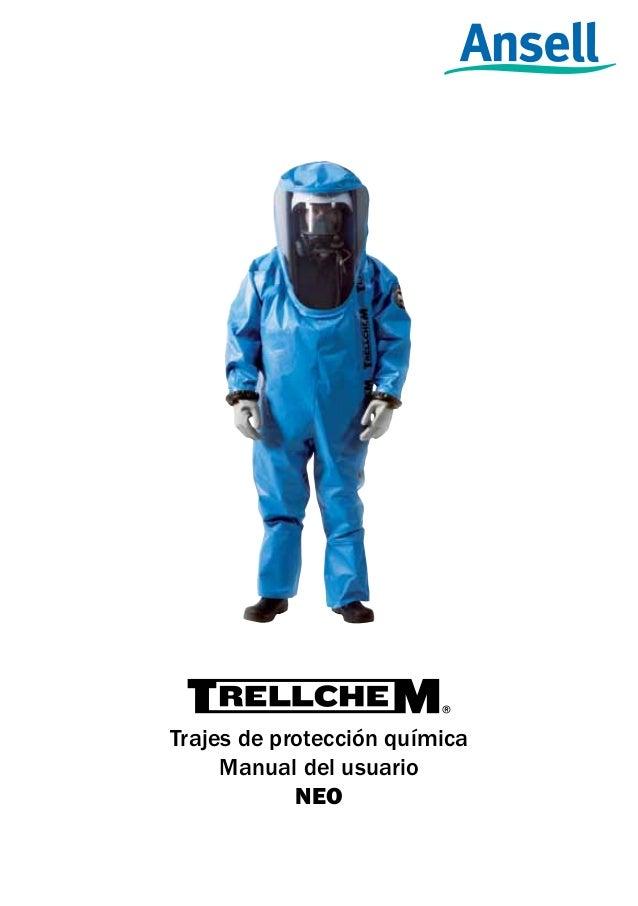 Trajes de protección química Manual del usuario NEO 1