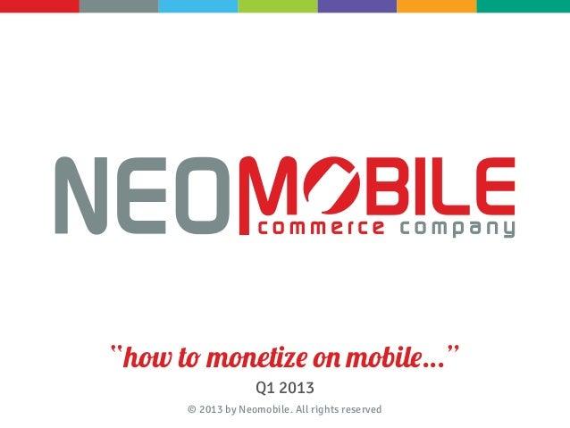 Neomobile  - Company presentation 2013