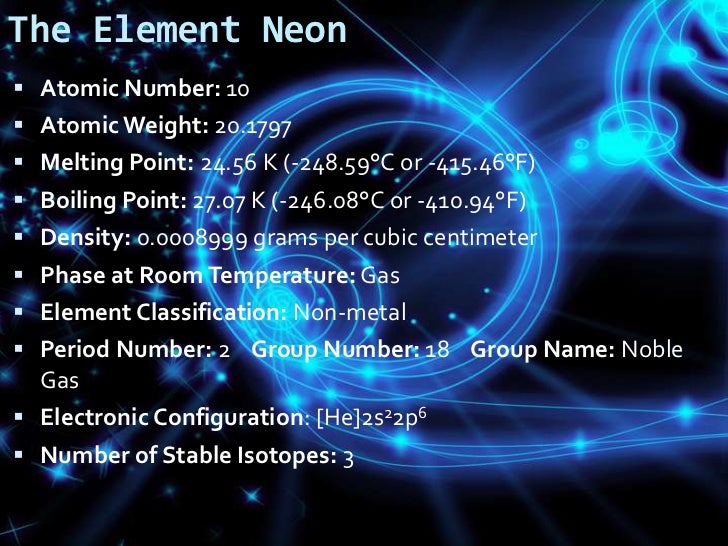 Phase At Room Temperature Of Neon