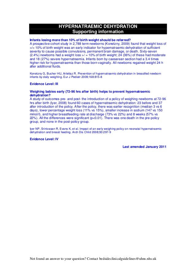 neonatal guidelines nhs 2011 2013 Body Fluid Balance Intake and Output Fluid Balance