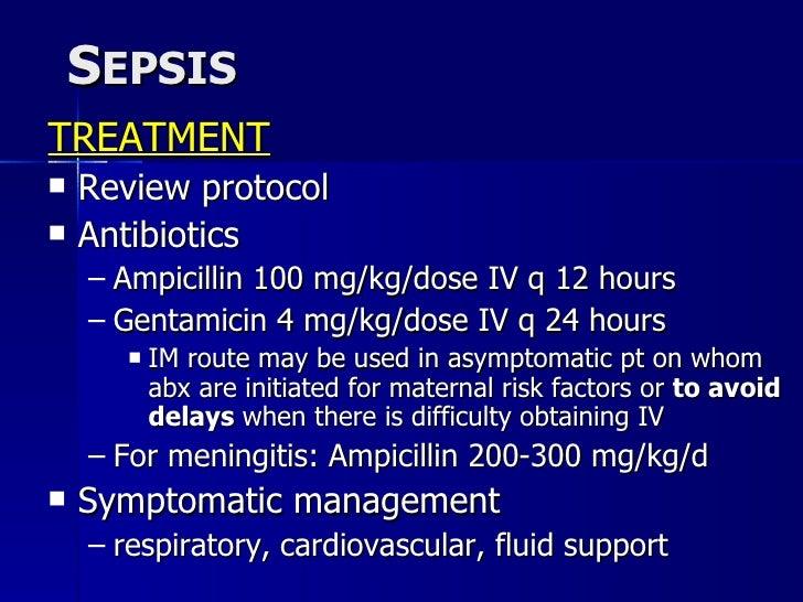 Ampicillin Dosage Neonates