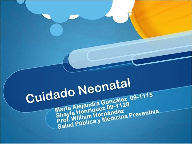 Cuidado Neonatal