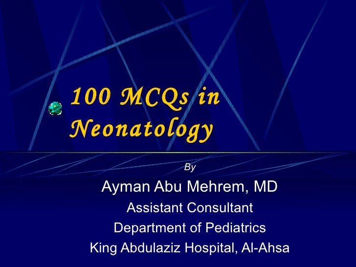 Neonatology MCQs