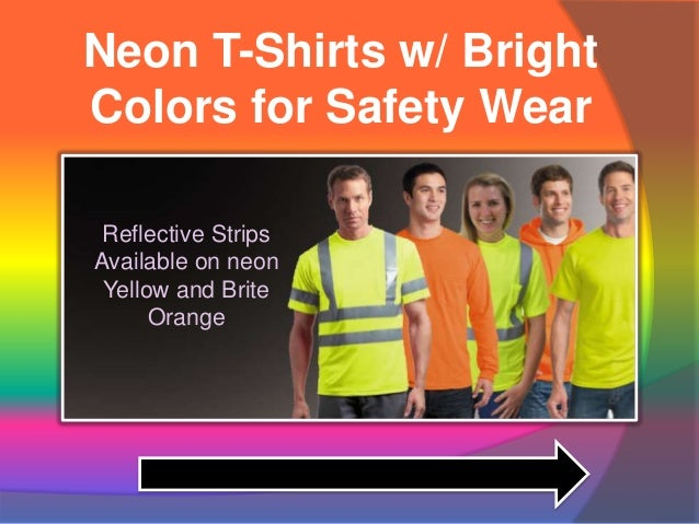 Neon Color t Shirts Neon T-shirts w/ Bright Colors