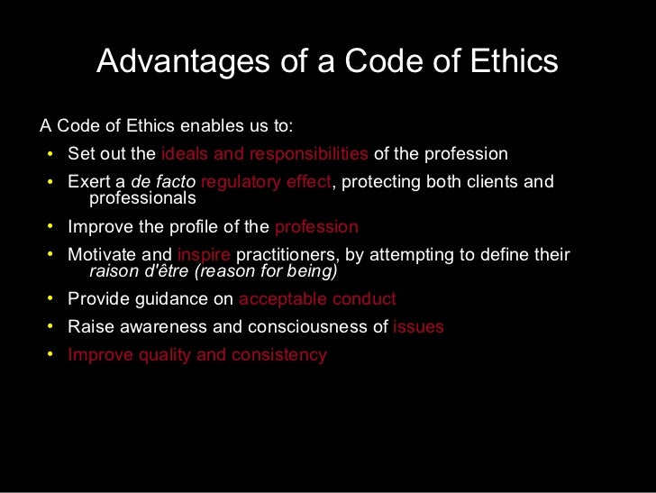 code of ethics and rationale The code of ethics and standards of practice were developed to guide the aging life care professional in his or her daily professional and business rationale the.
