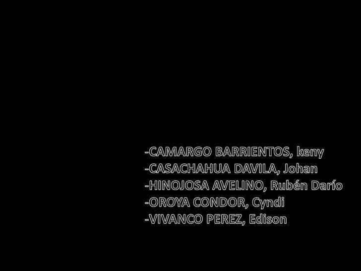 <ul><li>CAMARGO BARRIENTOS, keny
