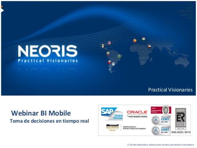 Neoris BI  - Business Intelligence Mobile - Toma de decisiones en tiempo real