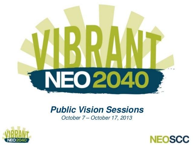 Vibrant NEO 2040 Public Vision Sessions