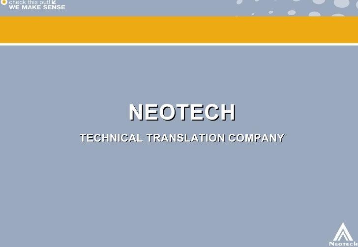 NEOTECH TECHNICAL TRANSLATION COMPANY