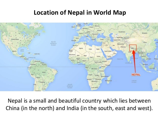 Essay on nepal on the world map