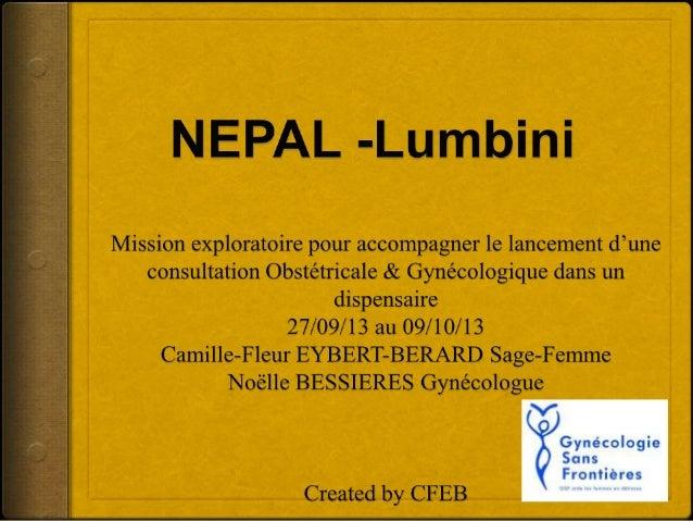Objectif de la Mission  L'Association Lumbini fait appel à GSF courant 2012, pour accompagner le lancement d'une consulta...