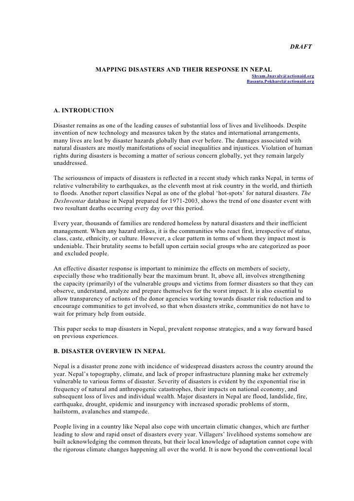 Nepal update on disaster2k8 dfa aanworked