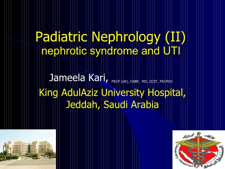 nephrotic syndrom and UTI