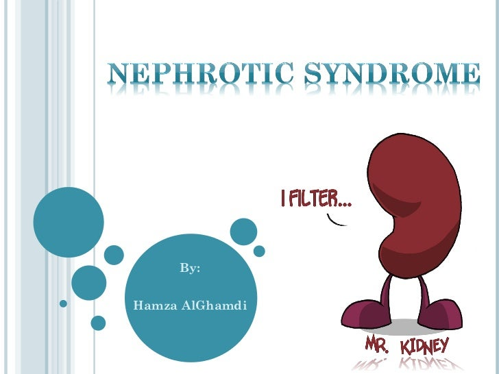 nephrotic syndrome Nephrotic syndrome refers to excessive proteinuria, with associated hypoalbuminemia, edema, and hyperlipidemia a diverse spectrum of disorders has been associated.