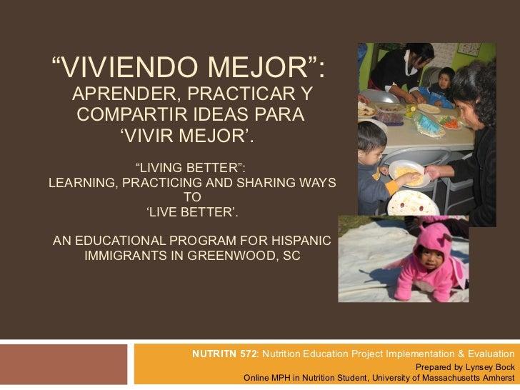 Viviendo Mejor Educational Program