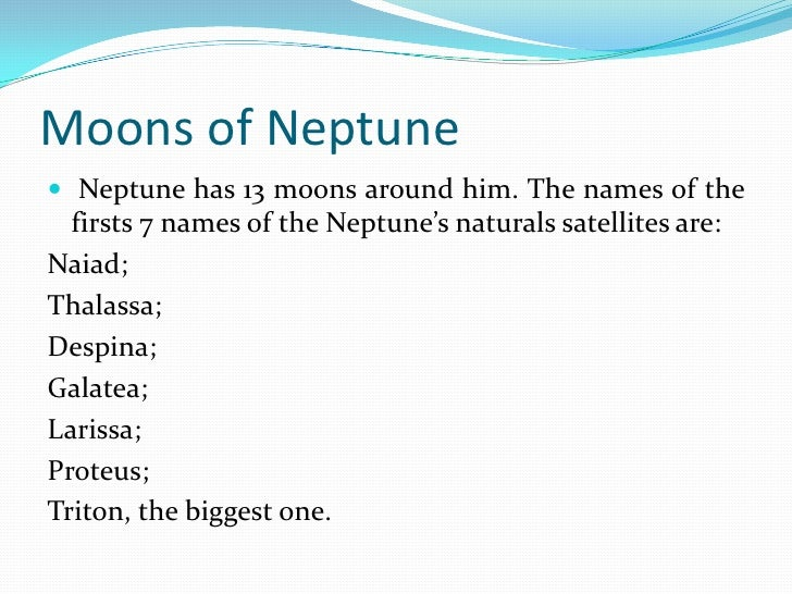 Names of Neptune's 13 Moons - Pics about space