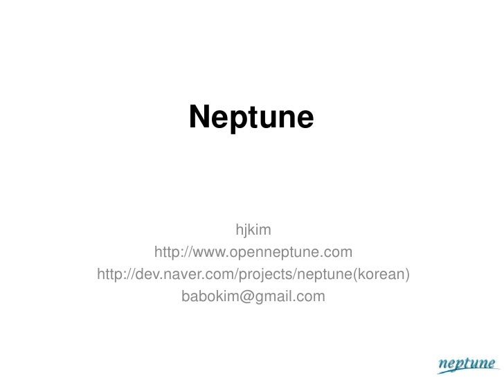 Neptune Distributed Data System