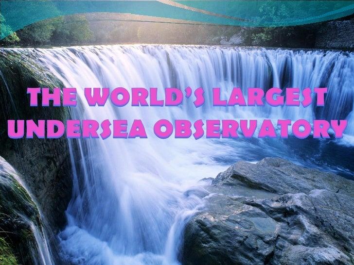 NEPTUNE : The World  Largest Undersea Observatory. - JS.MOCOY