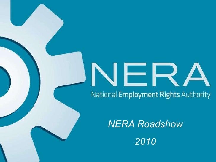 NERA roadshow employer presentation