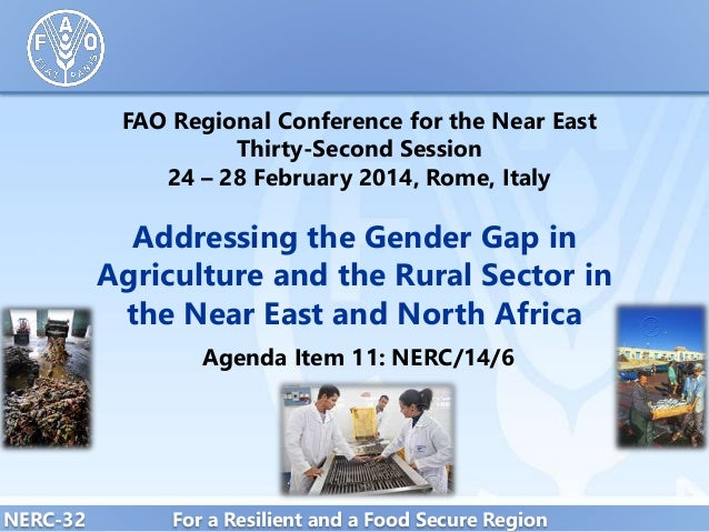 FAO Regional Conference for the Near East Thirty-Second Session 24 – 28 February 2014, Rome, Italy  Addressing the Gender ...