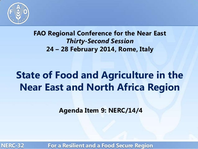 FAO Regional Conference for the Near East Thirty-Second Session 24 – 28 February 2014, Rome, Italy  State of Food and Agri...