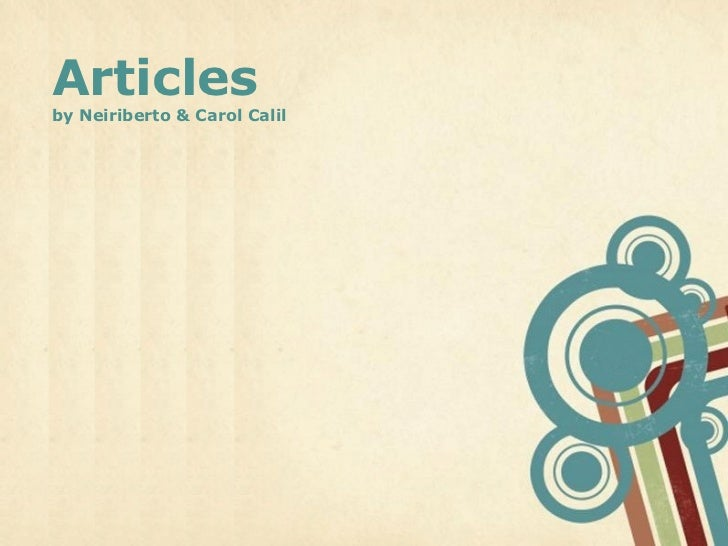 Nerilberto and Ana Calil's articles