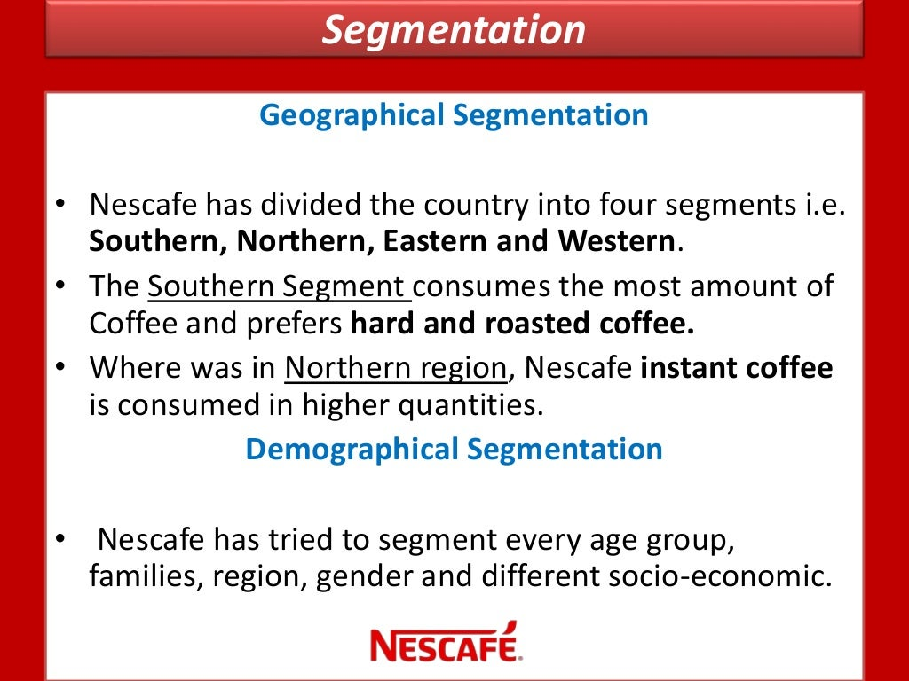 swot analysis of nescafe Find the latest and comprehensive swot & pestle analysis of nestle, the largest food and drinks company of the world.