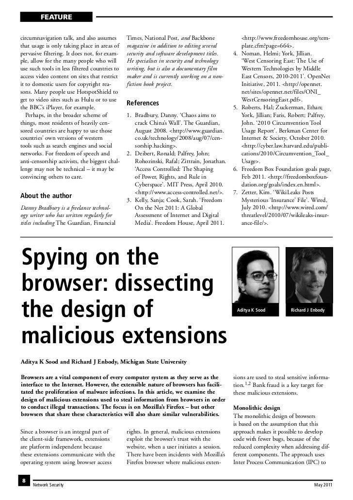 Elsevier NESE - Spying on the Browser