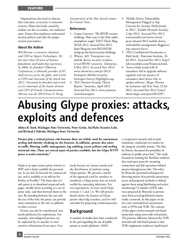 Abusing Glype Proxies - Attacks, Exploits and Defences