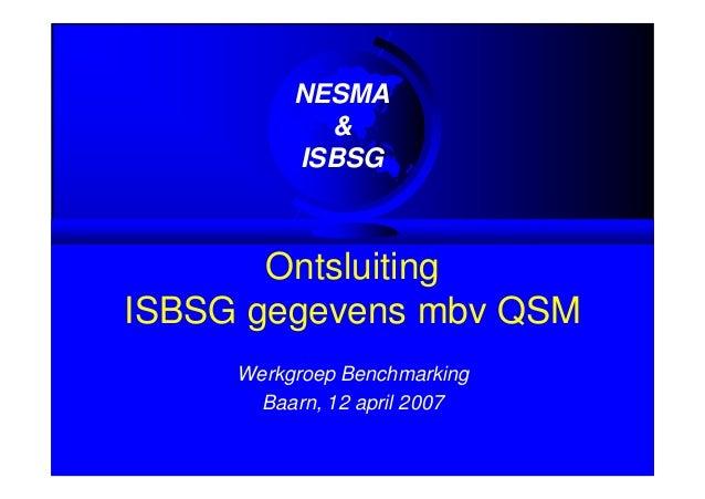Ontsluiting ISBSG gegevens met QSM