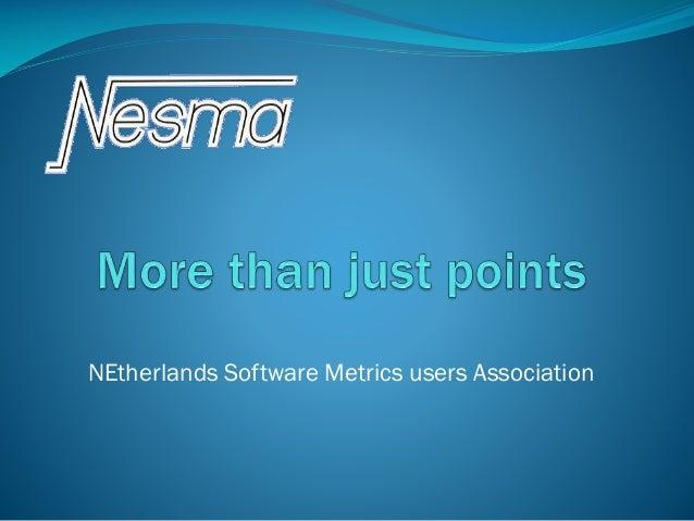 NEtherlands Software Metrics users Association