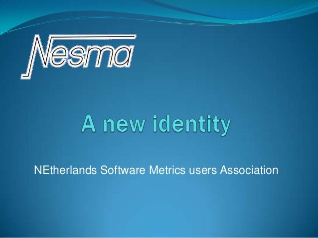 Creating a new identity for Nesma - Spring meeting 2014