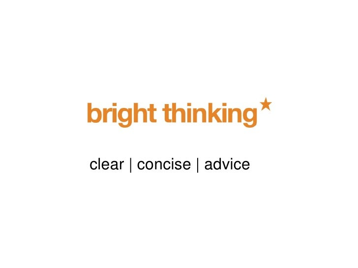 clear | concise | advice