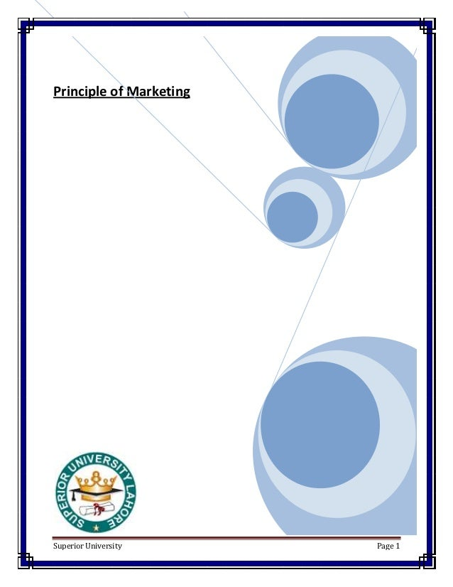 Principle of MarketingSuperior University      Page 1