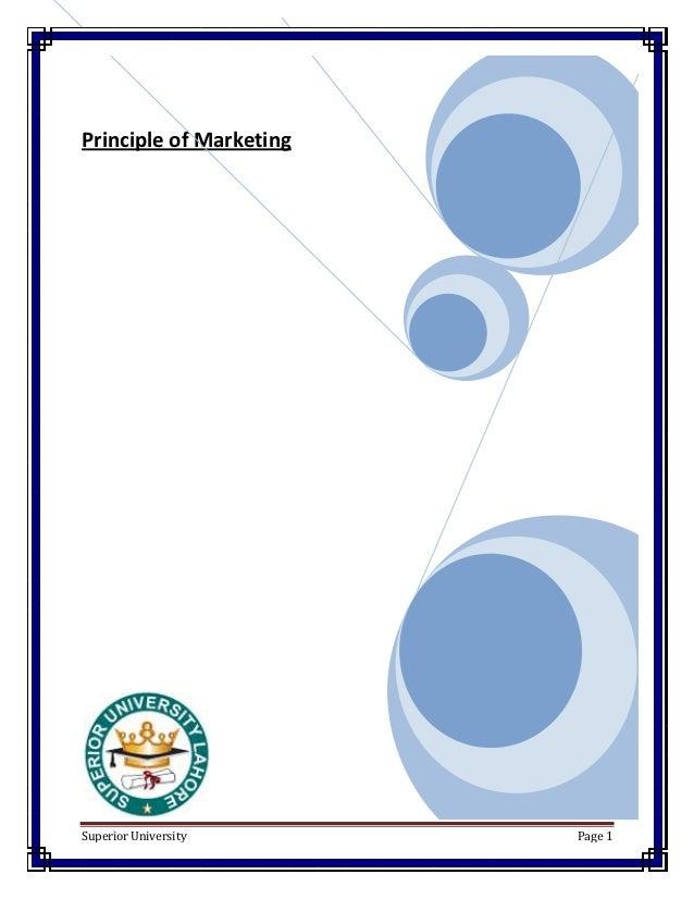Principle of MarketingSuperior University      Page 1