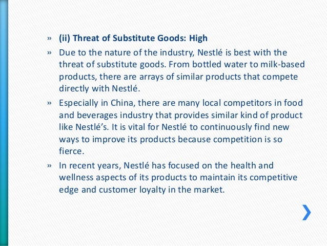 five forces porter for nestle company According to the global ranking, nestle is the infant formula market leader  the  us market, but the company stated about the intentions to build production   for the infant nutrition market analysis was chosen porter's five forces model.