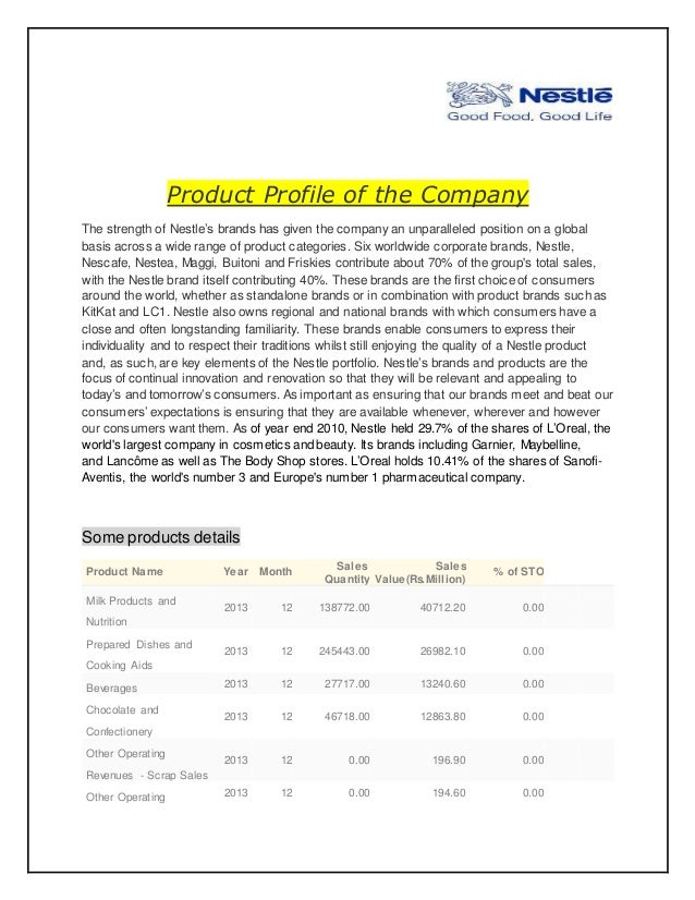 marketing research nestle company