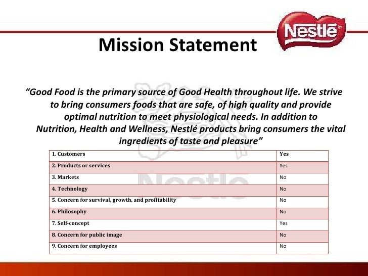 "mission analysis of nestle ""nestle's program is designed to personalize diets in ways unlikely to be necessary,"" said marion nestle, a nutrition professor at new york university who isn't linked to the kitkat maker."