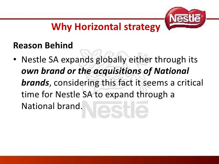 nestle recommendations strategy Nestle's growth strategy had been to enter emerging markets early - before competitors - and build a substantial position by selling basic food items that appeal to.