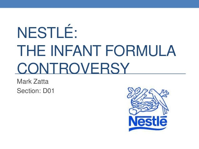 Nestle infant formula case study answers