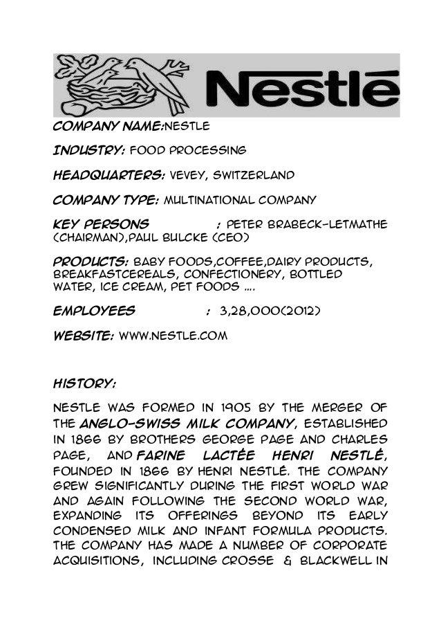 nestle case study international business