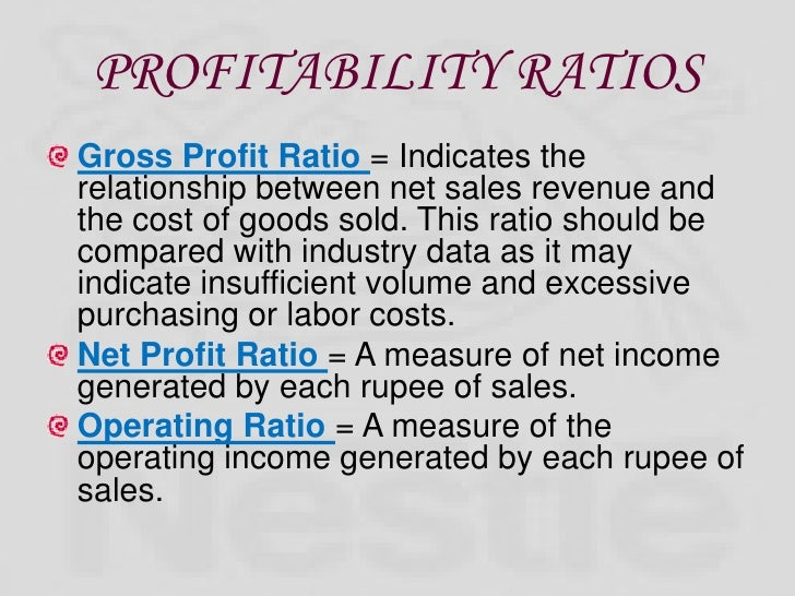 ratio analysis of nestle Ratio analysis nestle | fin6120 building financial relationship [analysis of all nestle stakeholder analysis essays and term papers.