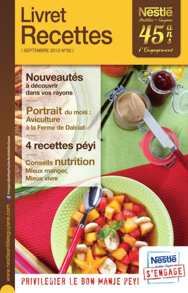 Nestle Livret Recettes N°30 Septembre 2013
