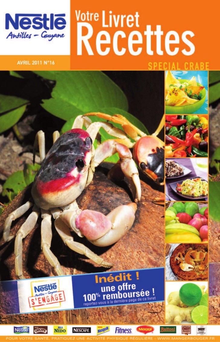 Nestle livret recettes 16 special crabe