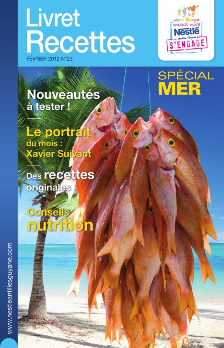 Nestle livret recettes 23 special mer
