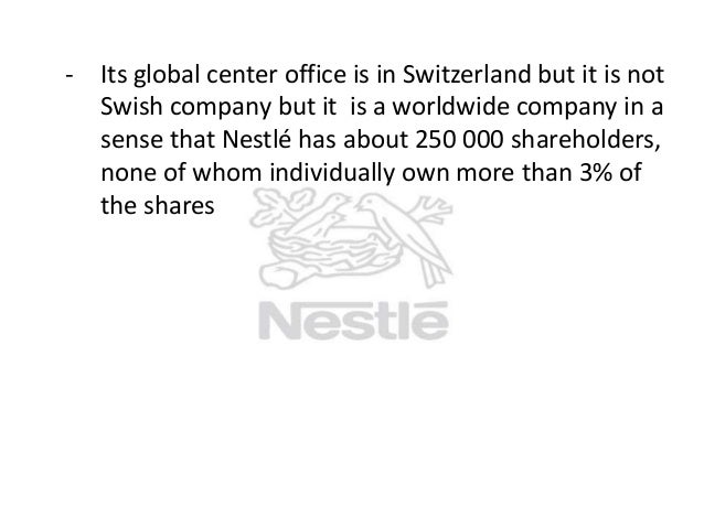 nestle essay The globalization of nestle - globalization is the dominant force by which the  world has become interconnected significantly as a result of extremely increased .