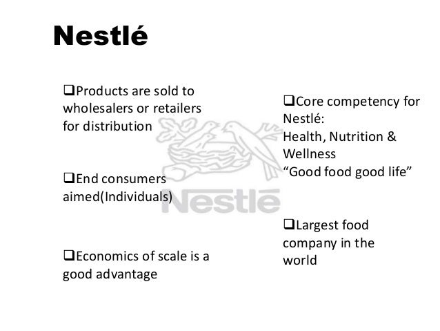 core competencies of nestle Bayer is a global enterprise with core competencies in the life science fields of health care and agriculture overview bayer global profile & organization history board of.