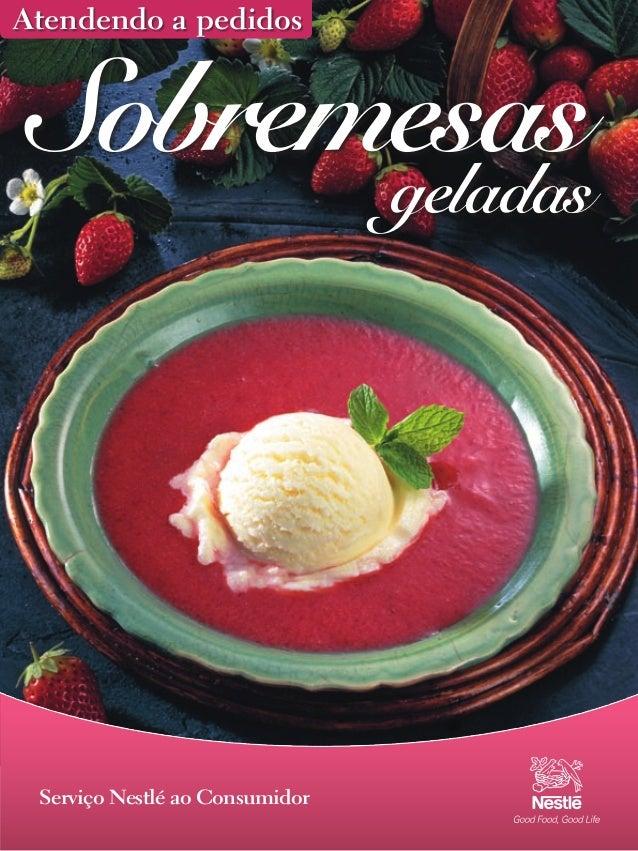 Revista Nestle Sobremesas Geladas
