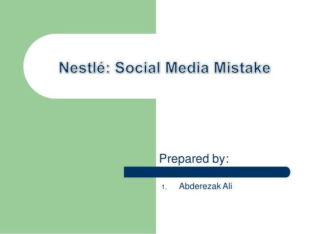 Nestle social media