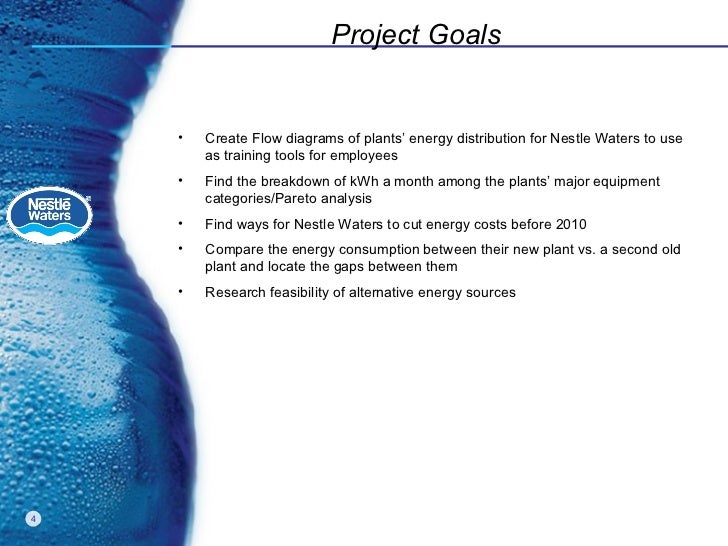 Nestle waters na energy analysis project